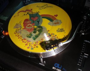 "This vintage ""Care Bears"" vinyl LP record is so clean and aromatic"