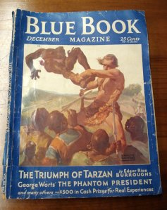 Lawrence Herndon illustrated this Tarzan cover for Blue Book Magazine