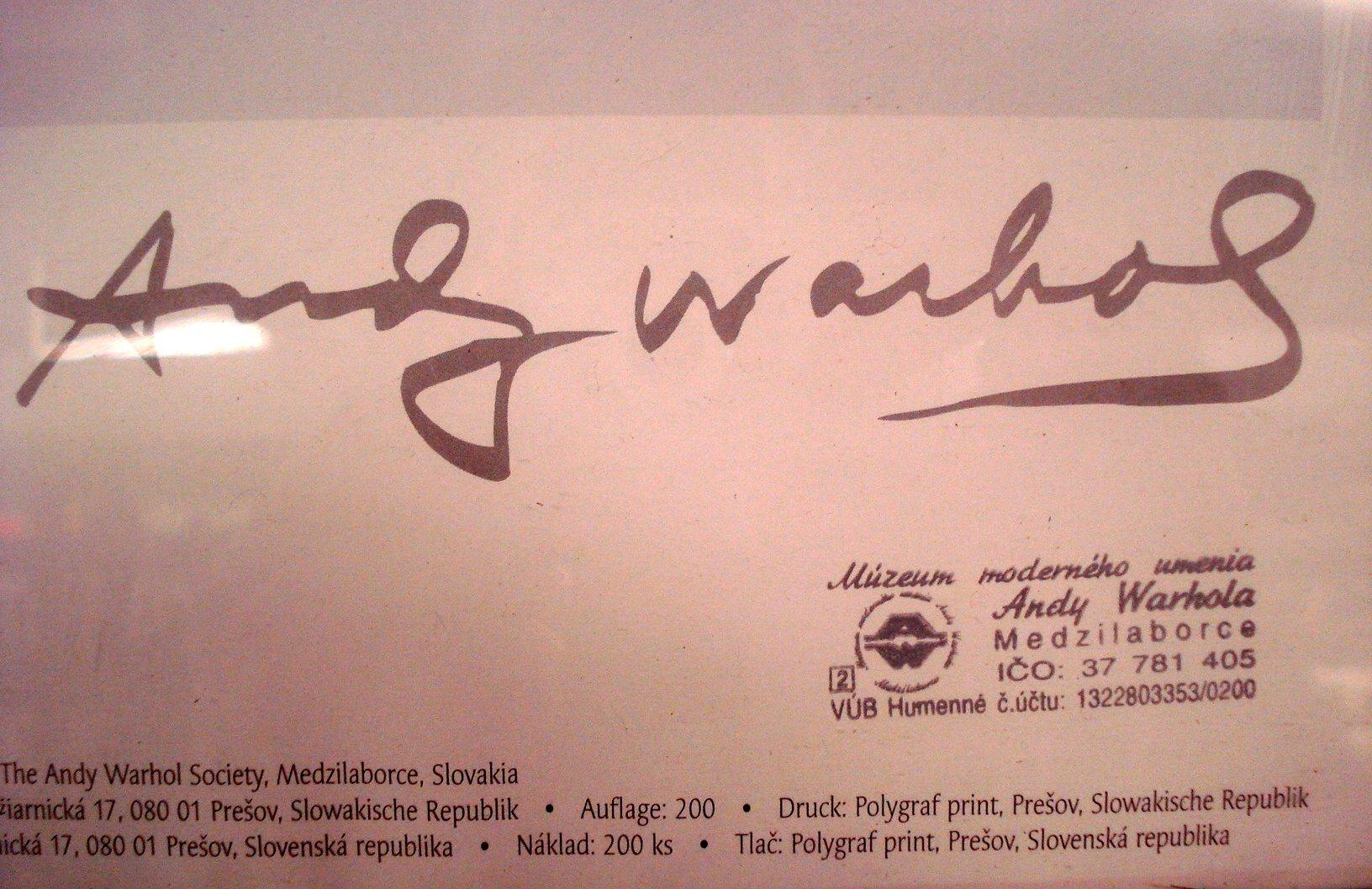 Assez andy-warhol-signature | Azio Media: Rare Books * Vinyl ** Ephemera *** GE58