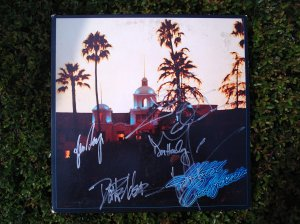 The Eagles Hotel California Album - Signed