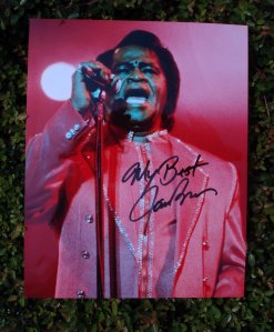 Autographed James Brown Photo