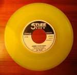 Yellow 45 rpm record