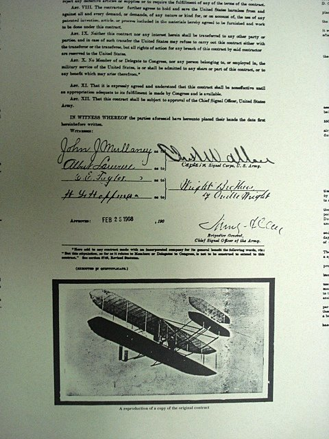 The Original Contract And Specifications For The First