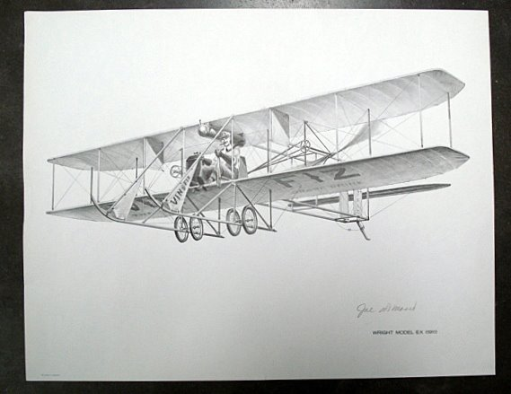 Wright Brothers Plane Drawing