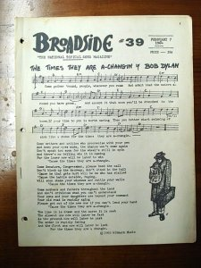 Broadside - National Topical Song Magazine - #39 February 7, 1964