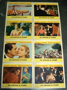to-catch-a-thief-lobby-cards
