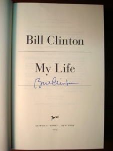 """My Life"" First Edition - Signed by Bill Clinton"