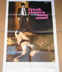 "Original film poster for ""Tony Rome"""