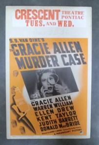 gracie allen murder case poster