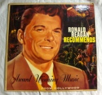 Ronald Reagan Recommends vinyl record