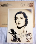Frieda Inescort Authentic Autographed Vintage 5 x 7 Matte Photo