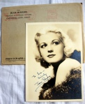 Jean Rogers Authentic Hand Signed Autograph