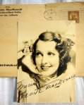 Jeanette MacDonald Authentic Autographed Vintage 5 x 7 Matte Photo with Original Jeanette MacDonald