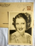 Jeanette MacDonald Authentic Autographed Vintage 5 x 7 Matte Photo