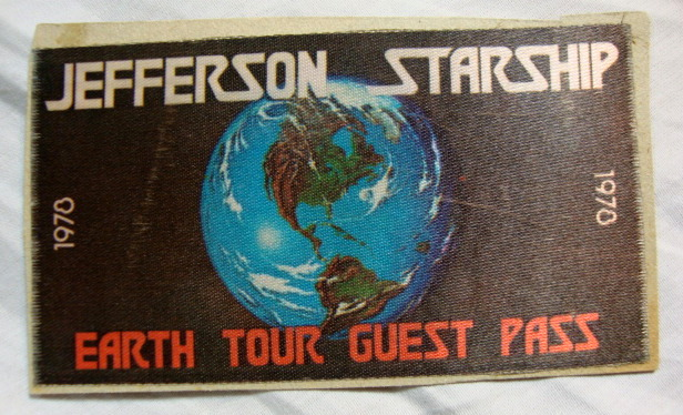 Jefferson Starship Earth Tour Concert Guest Pass - 1978