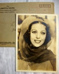 Loretta Young Authentic Autographed Vintage 5 x 7 Matte Photo