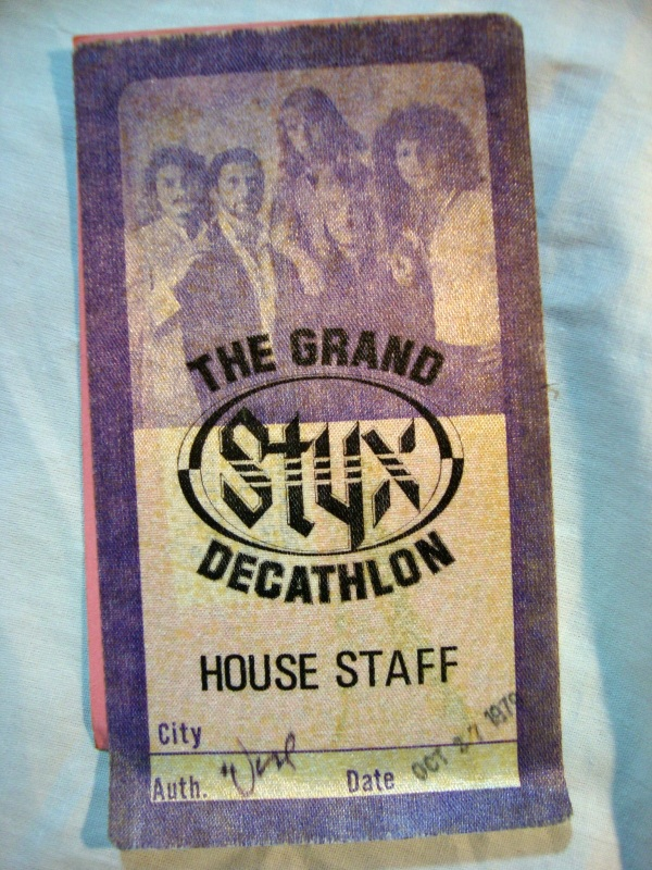 Original Grand Decathlon STYX Concert Staff Backstage Pass