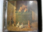 Antique Tray GREAT EASTERN CLOTHING HOUSE JOHNSTOWN Pennsylvania Equestrian Dogs 2