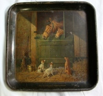 Antique Tray GREAT EASTERN CLOTHING HOUSE JOHNSTOWN Pennsylvania Equestrian Dogs 7
