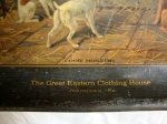 Antique Tray GREAT EASTERN CLOTHING HOUSE JOHNSTOWN Pennsylvania Equestrian Dogs