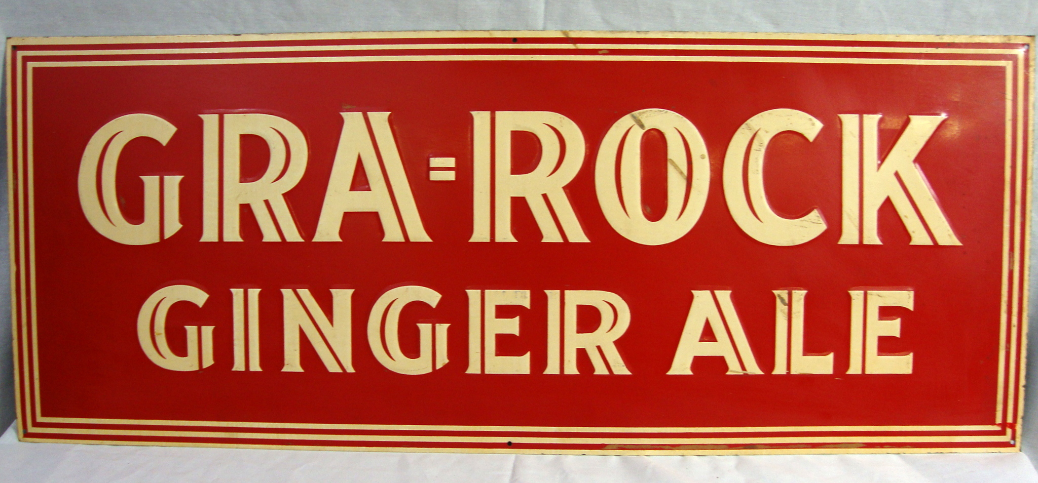 Antique Gra Rock Gingerale Sign Connecticut Amp Saturday