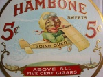Vintage Original   J. P. Alley's Hambone Advertising Cigar Sign Fan Pull 4
