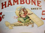 Vintage Original   J. P. Alley's Hambone Advertising Cigar Sign Fan Pull 41