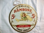 Vintage Original   J. P. Alley's Hambone Advertising Cigar Sign Fan Pull