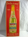 Vintage Original Lakewood Pale Dry Ginger Ale Jacobson Bros, New Jersey Sign 1