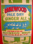 Vintage Original Lakewood Pale Dry Ginger Ale Jacobson Bros, New Jersey Sign 4