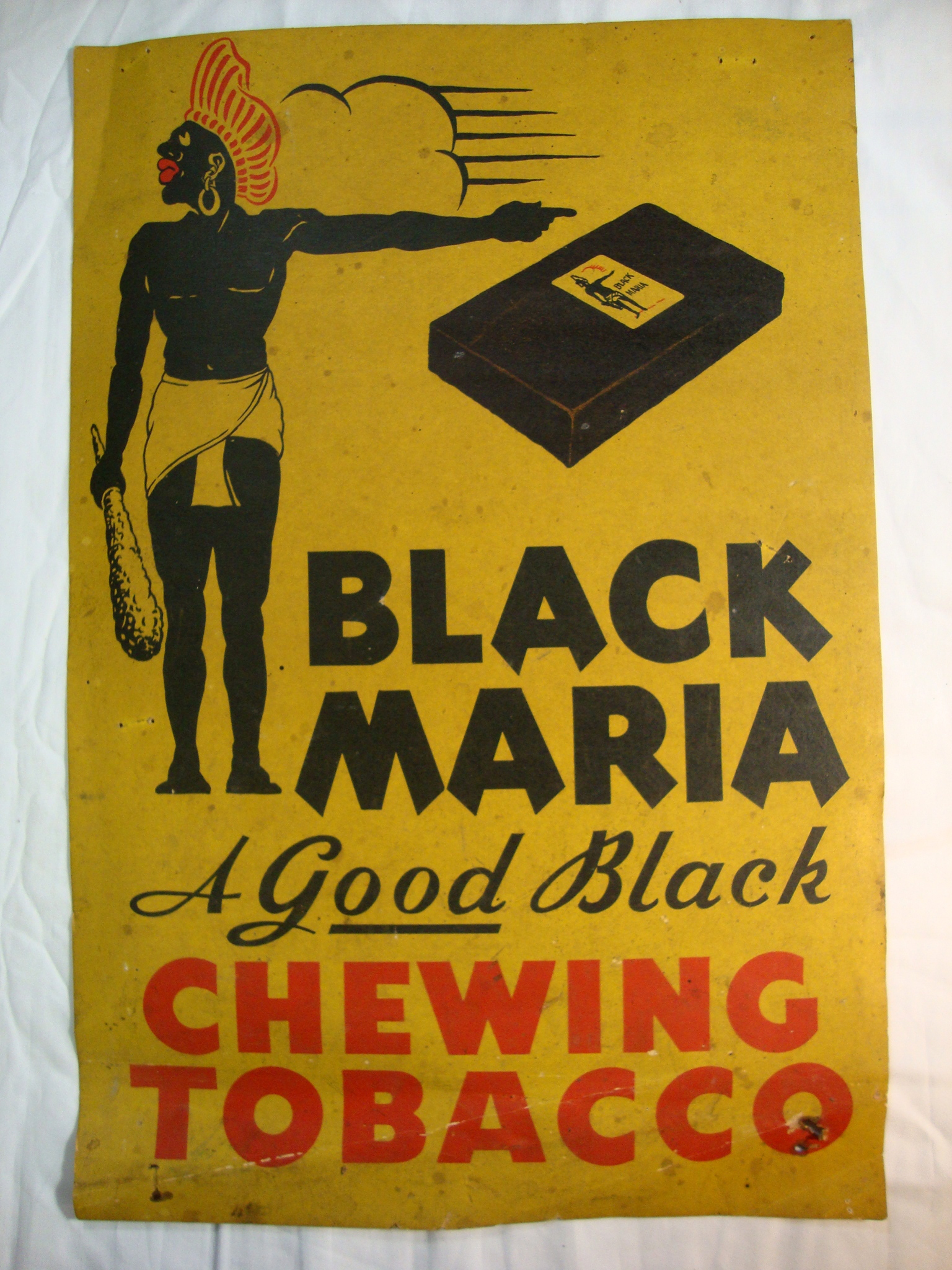 Rare Original Black Maria A Good Black Chewing Tobacco