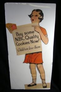 Rare Original Girl-Shaped Buy NBC Zu Zu Ginger Snaps Cookies Advertising Sign 2