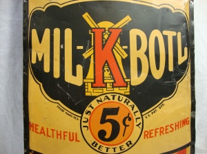 Large Rare Original MIL-K-Boil Orange Soda Bottle Shaped Metal Advertising Sign 7