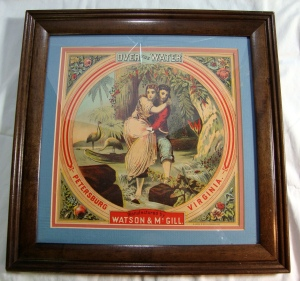 Over The Water, Watson & McGill Petersburg, Virginia Vintage Cigar Box Label Art