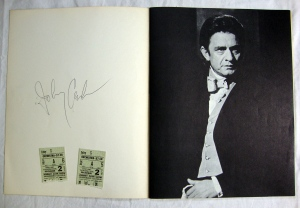 Autographs Johnny Cash, Statler Bros. & Bob Wootton 1972 Tour Program w Stubs 4