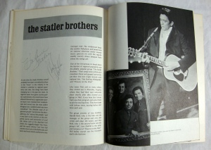 Autographs Johnny Cash, Statler Bros. & Bob Wootton 1972 Tour Program w Stubs 8
