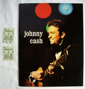 Autographs Johnny Cash, Statler Bros. & Bob Wootton 1972 Tour Program w Stubs