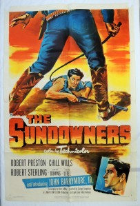 The Sundowners 1952 Western Movie Poster John Drew Barrymore Jr.