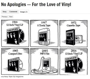 Love of Vinyl Cartoon - Tape Op Magazine
