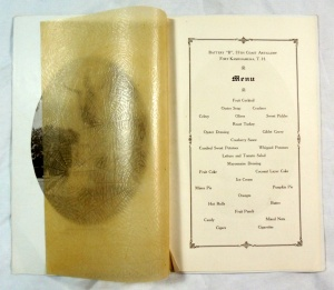 Vintage 1929 Battery 'B' 55th Coast Artillery Christmas in Hawaii Military Menu 3