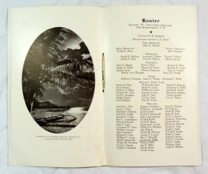 Vintage 1929 Battery 'B' 55th Coast Artillery Christmas in Hawaii Military Menu 4