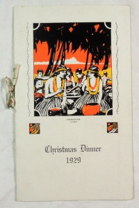 Vintage 1929 Battery 'B' 55th Coast Artillery Christmas in Hawaii Military Menu