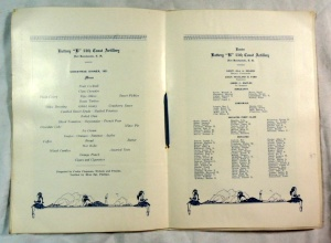 Vintage 1931 Battery 'B' 55th Coast Artillery Christmas in Hawaii Military Menu 3