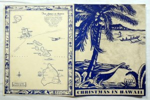 Vintage 1937 Battery B 55th Coast Artillery Military Christmas in Hawaii Menu