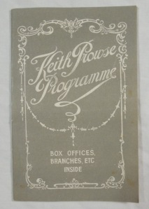 Keith Prowse Programme 1927 London Theatre Movies Concerts