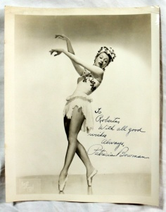 Original Autographed Photo Ballerina Patricia Bowman Ballet Dancer  2