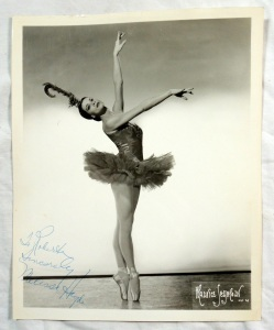 Original Autographed Photo Melissa Hayden Ballet Dancer