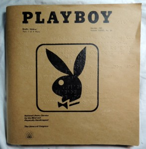 Playboy Magazine in Braille