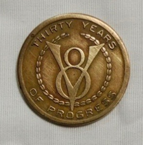 1903-1933 Ford Car Automobile Grill Token Metal Coin V8 30 Years Of Progress