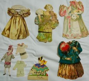 Antique Victorian paper dolls